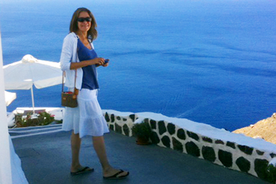 Here I am in Santorini, Greece