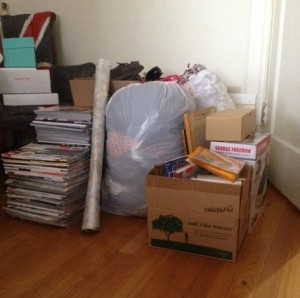 All of the stuff for donation/recycling from my closet purge!